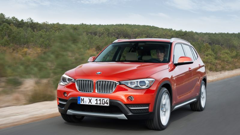 BMW X1, crossover, luxury cars, red, SUV, xDrive, sDrive, Frankfurt 2015 (horizontal)