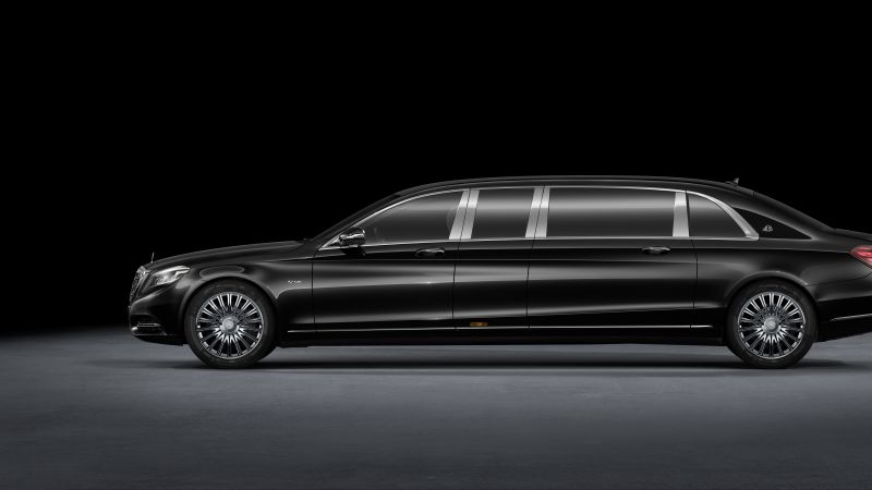 Mercedes Maybach S600 Pullman, sedan, grey, supercar, luxury cars (horizontal)