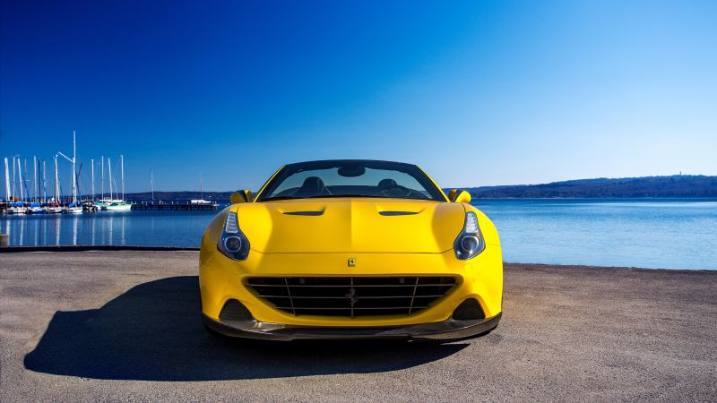 Ferrari California T, Novitec Rosso, yellow, supercar 2016 (horizontal)