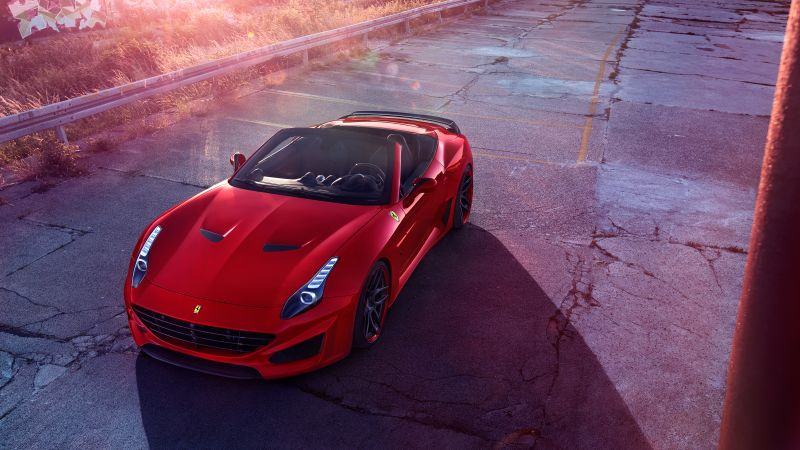 Ferrari California T N-largo, Novitec Rosso, red, supercar 2016 (horizontal)