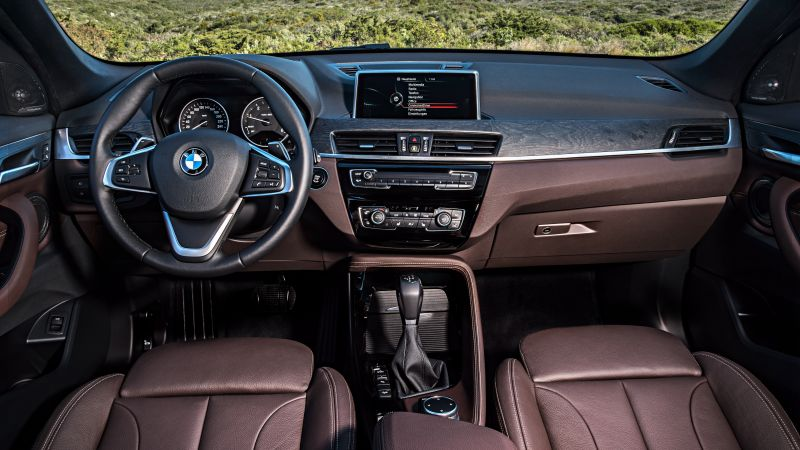BMW X1, coupe, interior, crossover, luxury cars, SUV, xDrive, sDrive, Frankfurt 2015 (horizontal)