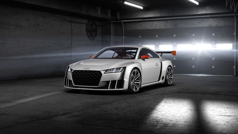 Audi TT Clubsport Turbo, concept, audi, sports car, racing, white, cars 2016 (horizontal)