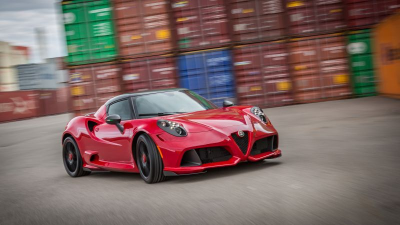 Alfa Romeo Zender 4c, Alfa Romeo, red, sports car, Frankfurt 2015, cars 2016 (horizontal)