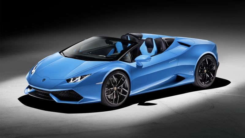 Lamborghini Huracan LP610-4 Spyder, supercar, blue, luxury cars, sports car, test drive (horizontal)
