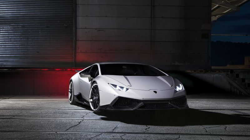 Lamborghini Huracan LP610-4, supercar, white, luxury cars, sports car, test drive (horizontal)