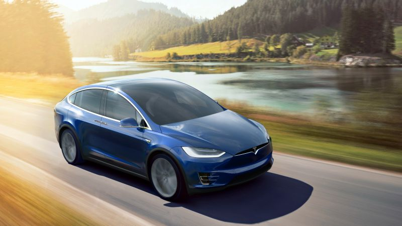 Tesla Model X P90D, electric cars, suv, 2016 (horizontal)