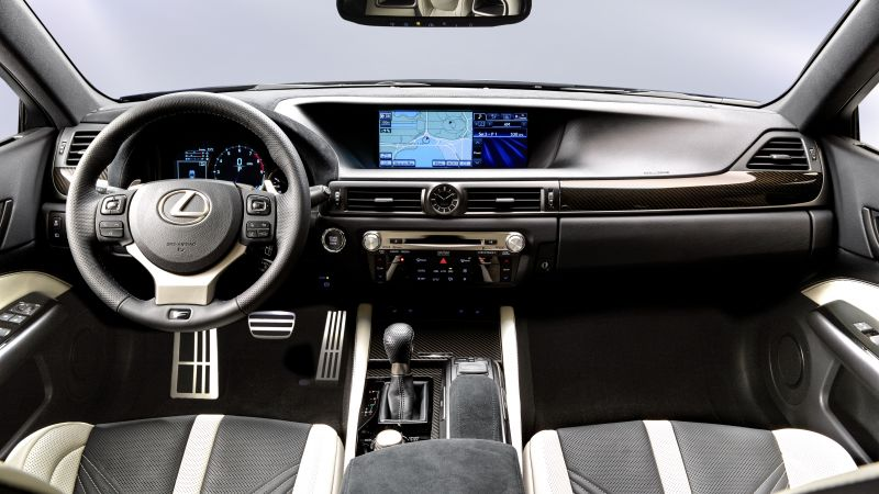 Lexus GS F, supercar, interior, luxury cars, test drive (horizontal)