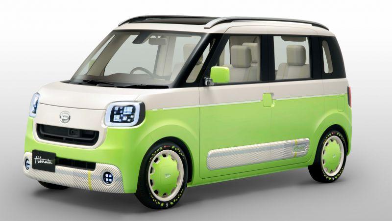 Honda Santa Cruz >> Wallpaper Daihatsu Hinata, Concept, green, future car ...