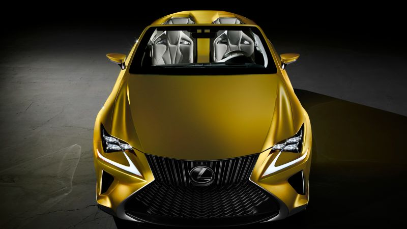 Lexus LF-C2, supercar, concept, gold, luxury cars, test drive (horizontal)