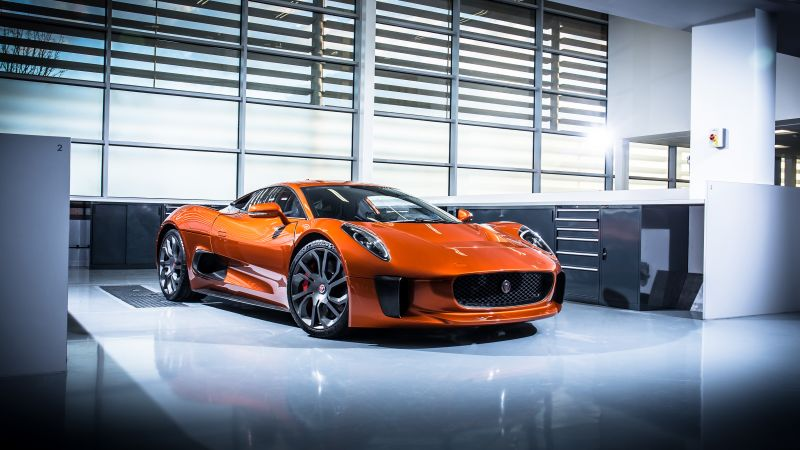 Jaguar C-X75, 007 Spectre movie (horizontal)