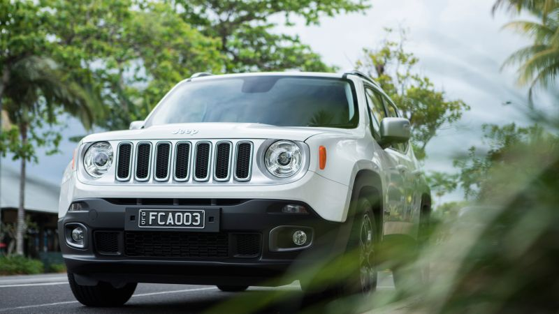 Jeep Renegade Limited, white, SUV (horizontal)
