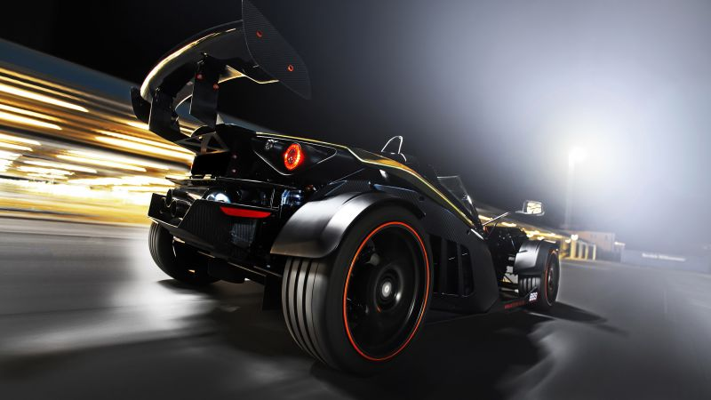 Wimmer RS, KTM X-Bow, GT Dubai, sport car, black (horizontal)