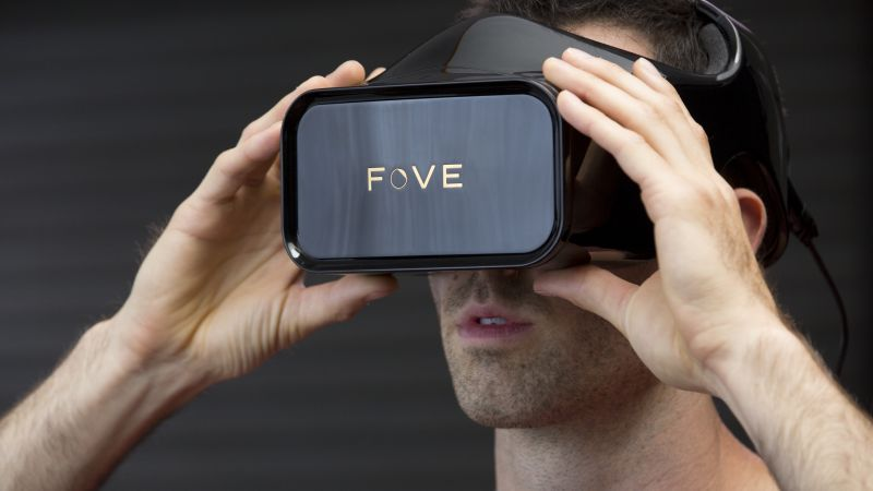 Fove headset VR, Head-mounted display, concept, 2016 (horizontal)