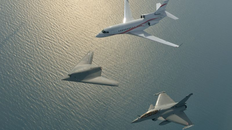 Dassault nEUROn, Neuron, Rafale, Falcon 7X, British army, Drone, Unmanned Combat Air Vehicle, US Army, U.S. Air Force, aircraft (horizontal)