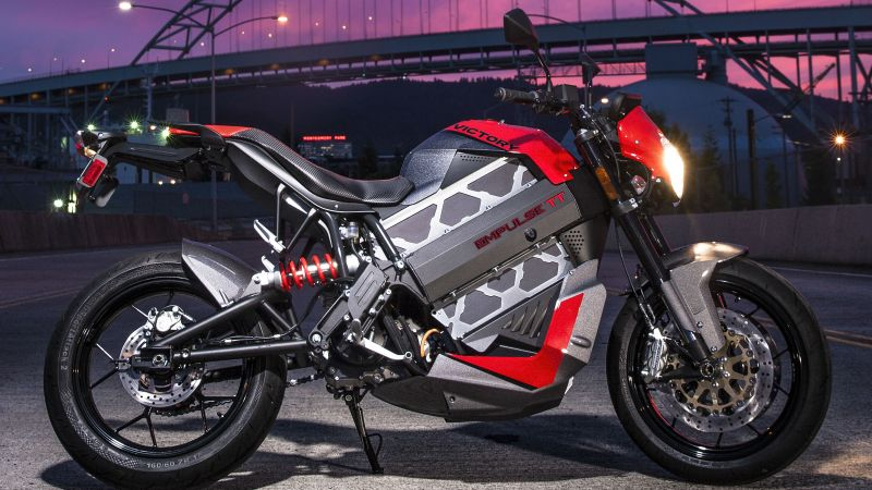 Victory Empulse TT - 10, electrobike, electric motorcycle, race (horizontal)
