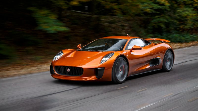 Jaguar C-X75, 007 Spectre, james bond, orange, spectre (horizontal)