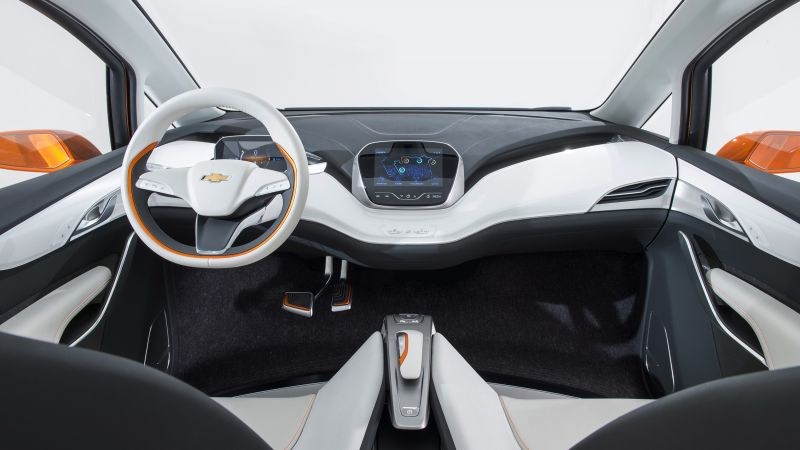 Chevrolet Bolt EV, interior, Chevy, electrocar, electric cars, LG-mobile, concept (horizontal)