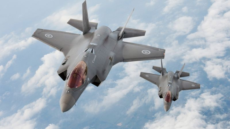 Lockheed F-35 Lightning II, USA army, fighter aircraft, air force, USA (horizontal)