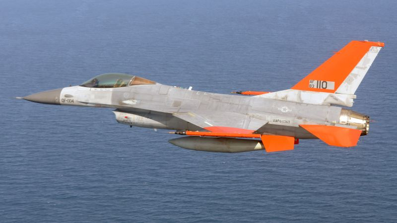 Boeing QF-16, USA army, fighter aircraft, air force, USA (horizontal)