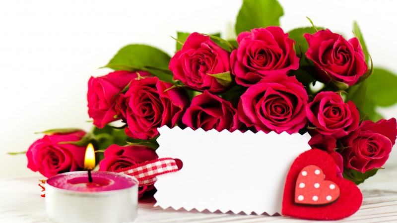 Valentine's Day, February 14, flowers, roses, cards, hearts, love, gift (horizontal)