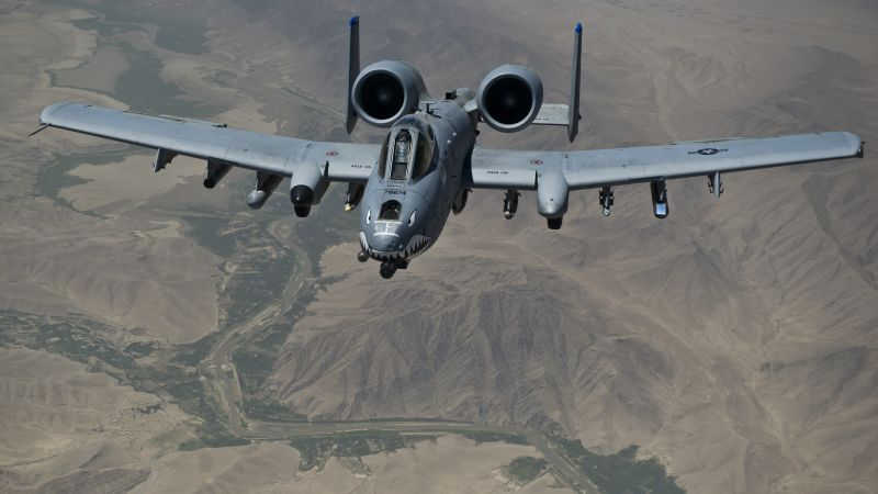 A-10 Thunderbolt II, US Army, U.S. Air Force, aircraft (horizontal)