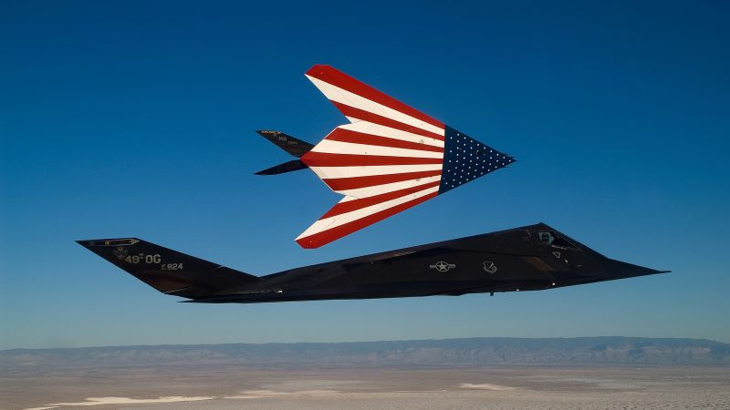 F-117 Nighthawk, Lockheed, US Air Force, USA Army, United States Navy (horizontal)