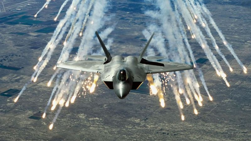 Raptor F-22, Martin, shooting, stealth, air superiority fighter, U.S. Air Force (horizontal)