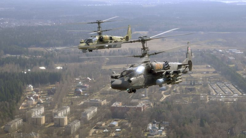 KAMOV KA-50 BLACK SHARK, fighter helicopter, fighter, Russian Air Force (horizontal)