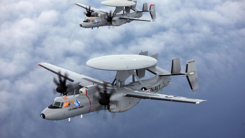 E-2 Hawkeye, Northrop Grumman, tactical airborne, early warning, USA Army, United States Navy (horizontal)