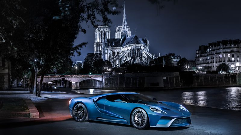 Ford GT, supercar, concept, blue, sports car, luxury cars, test drive (horizontal)