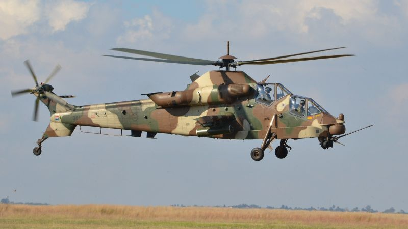 Denel AH-2 Rooivalk, attack helicopter, South African Air Force (horizontal)