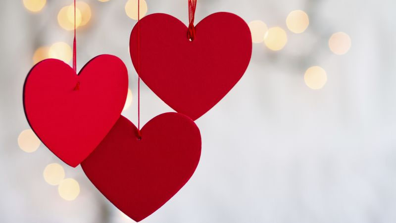 Valentine's Day, heart, decorations, romantic, love (horizontal)