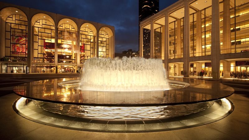 Lincoln Center for the Performing Arts, New York, NY, USA, tourism, travel, fountain (horizontal)