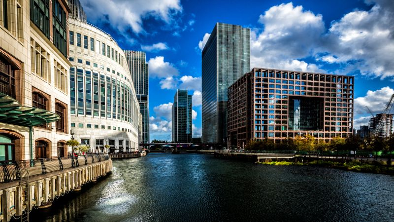 Canary Wharf, London, Europe, tourism, travel (horizontal)