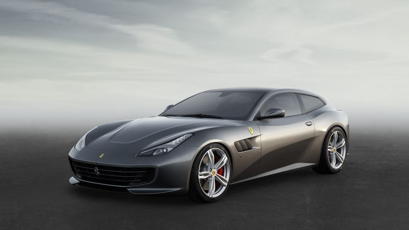Ferrari GTC4Lusso, Geneva International Motor Show 2016, sports car, grey (horizontal)