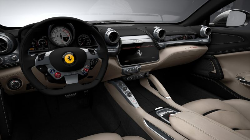 Ferrari GTC4Lusso, Geneva International Motor Show 2016, sports car, interior (horizontal)