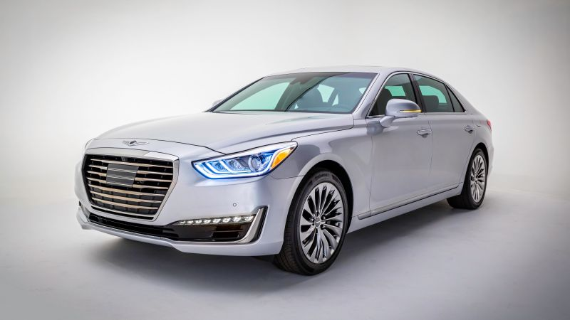 Genesis G90, luxury cars, grey (horizontal)