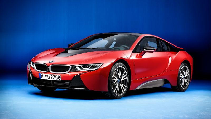 "BMW i8 ""Protonic Red Edition"", Geneva Motor Show 2016, hybrid, red (horizontal)"