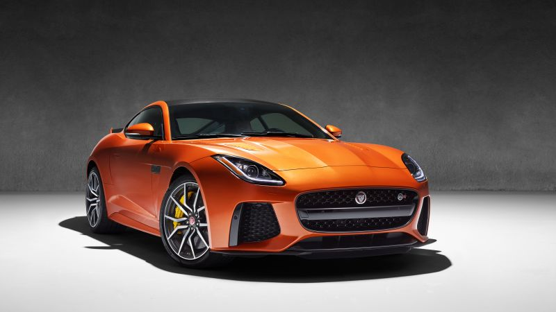 "Jaguar F-Type SVR, Geneva Auto Show 2016, Coupe, ""British Design Edition"", orange (horizontal)"