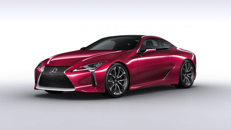 Lexus LC 500, detroit auto show 2016, sport car, red (horizontal)