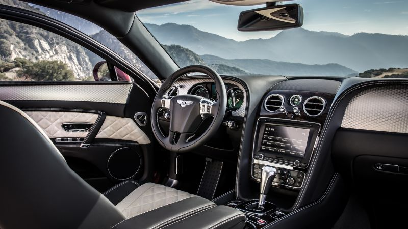 Bentley Flying Spur V8 S, Geneva Auto Show 2016, luxury, interior (horizontal)