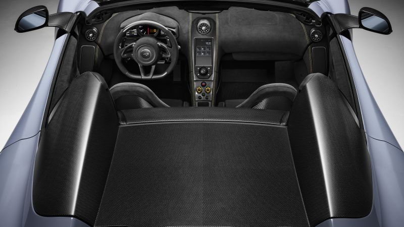 McLaren MSO 675LT Spider, Geneva International Motor Show 2016, sports car, interior (horizontal)