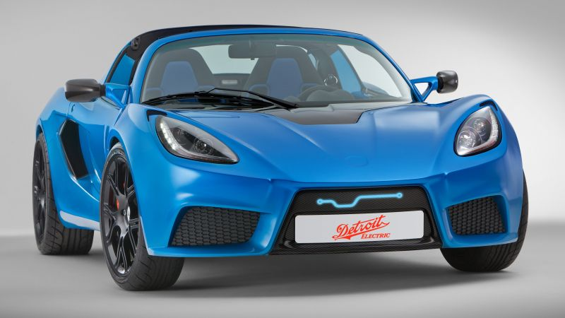 Detroit Electric SP01, Quickest Electric Cars, sport cars, electric cars, blue (horizontal)