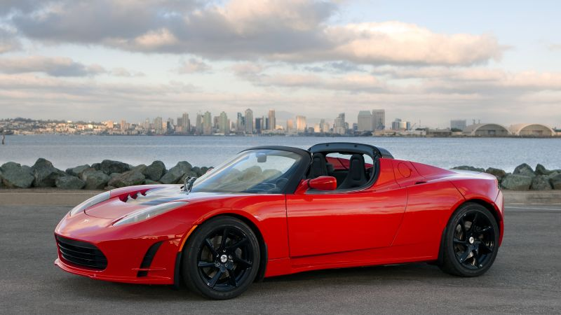 Tesla Roadster Sport, Quickest Electric Cars, sport cars, electric cars, red (horizontal)