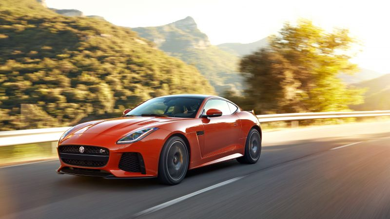 Jaguar F-Type SVR, Geneva Auto Show 2016, roadster, orange (horizontal)