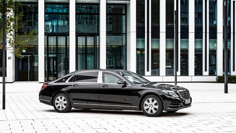Mercedes-Maybach S 600 Guard, Geneva Auto Show 2016, VR10, sedan, black (horizontal)