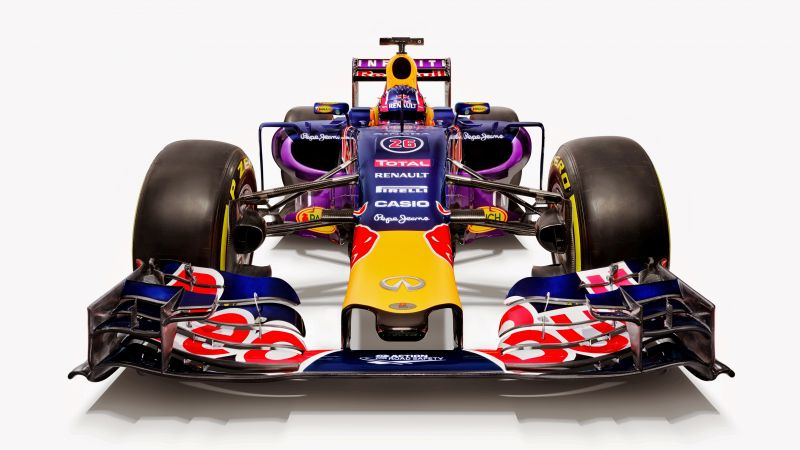 Red Bull RB12, Red Bull Racing, Daniel Ricciardo, Formula 1, LIVE from Barcelona, F1 (horizontal)