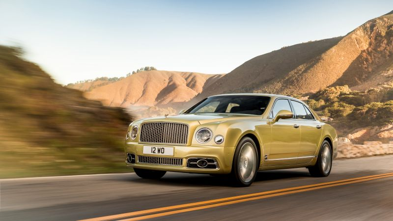 Bentley Mulsanne Speed, Geneva Auto Show 2016, gold, luxury car (horizontal)