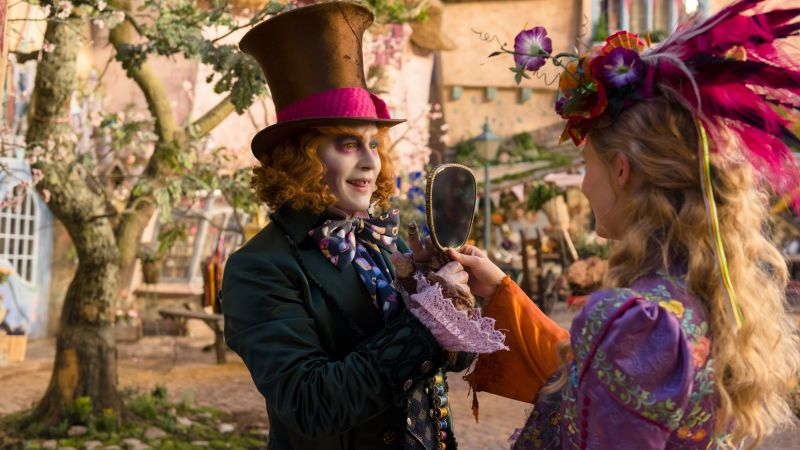 Alice Through the Looking Glass, Johnny Depp, Mia Wasikowska, best movies of 2016 (horizontal)