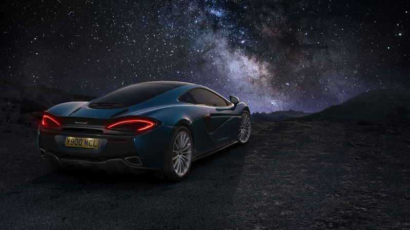 McLaren MSO P1, Geneva Auto Show 2016, starry sky, sports car (horizontal)